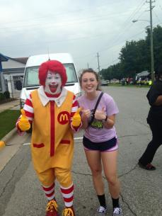 Having fun with Ronald at the Ayden Collard Festival.